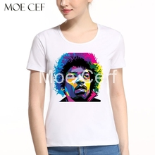 2017 New Jimi Hendrix Rock Music T shirt Women Summer New Guitar Girl T-shirts Fashion Brand Trend Teenages Tee Shirt L9-P-35