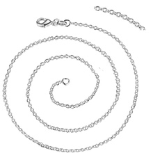 "10pcs chain free shipping silver plated Fashion jewelry Necklace chain 1mm 16""-30"" ZAP002(China)"