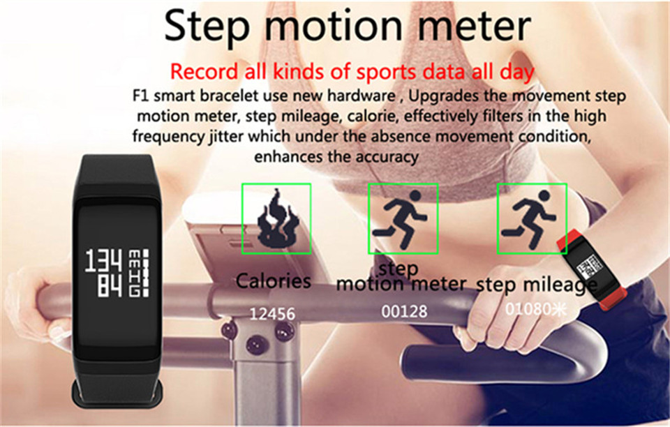 LETIKE Blood Pressure Smart Bracelet Sport Pedometer Fitness Tracker Wrist Smartband Pulse Measure Waterproof For IOS Android 5