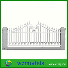 G-04 1m long ABS plastic model garden hedge railing fence for sandy table model materials