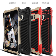 New R-Just Case For Samsung Note FE Waterproof Case For Samsung Galaxy Note FE Aluminum Waterproof Shockproof Carbon fiber Case(China)
