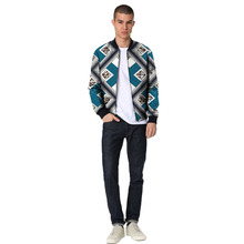Festival colour african men baseball jacket africa print print stand collar dashiki coat patchwork african clothes customized