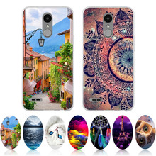 3D Style LG K10 2017 Case Soft Silicone Back Shell For LG LV5 Cover Cute Ultra Thin Coque For LG K10 2017 M250N M250 Phone Cases