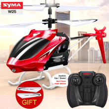 Original SYMA W25 2CH RC Helicopter Shatterproof Remote Control Copter with Built in Gyro Radio Mini Drones Indoor Kid Funny