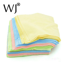 Wholesale 80pcs/lot of Square Glasses Camera Lens Screen Cellphone Cleaner Cleaning Cloth Microfibre Jewelry Polishing Clothes(China)