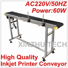 High Quality Inkjet Printer Conveyer 60W Conveying Table Band Carrier Belt Conveyor For Bottles/Box/Bag/Sticker(China)