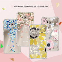 "3D Art Print Case Coque For Asus Zenfone 3 ZE520KL 5.2"" Flower Lace Relief Soft TPU Phone Cases Cover For Asus Zenfone 3 ZE520KL"