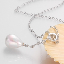 Pearl Necklaces White Gold Elegant Lady Women Jewelry Long silk Nice charm n012 gift box free 2015 New Fashion Genuine Shell