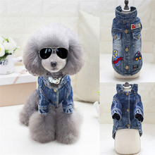 Buy Pet Clothing Cartoon Handsome Jeans Dog Clothes Denim jacket Fashion Pet Clothes Teddy Dogs Cowboy Clothing Spring Autumn for $6.75 in AliExpress store