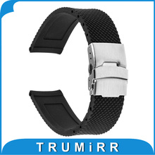 19mm 20mm 21mm 22mm 23mm 24mm Universal Watchband Mesh Pattern Silicone Rubber Watch Band Resin Strap Bracelet