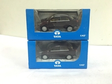 2PCS SUIT NEW NOREV 1/43 TATA UV1 INDIGA MANZA ELAN CAR MODEL IN PERFECT CONDITION(China)