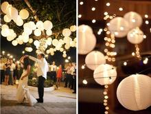 20pcs/lot size 6-8-10-12-14-16inch Chinese White paper lanterns home decoration wedding decoration wedding suppliers for party(China)