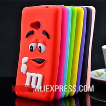 For Microsoft Nokia Lumia 535 Case M&M'S Chocolate Candy Silicone Rubber Cases Covers Phone Case