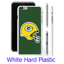 Fashion Green Bay Packers NFL Styl Hard White Phone Case for iPhone 7 6 6S Plus 4 4S 5C 5 SE 5S Cover