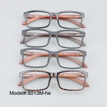 8013M     free shipping  TR90 frame spring hinged wooden temple myopia eyewear  eyeglasses  RX optical frames