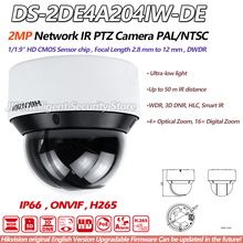 Hikvision PTZ DS-2DE4A204IW-DE 2MP Network IR Mini Camera 20X optical Zoom EZVIZ IP66 PoE 50m IR Ultra-low light CCTV Webcam(China)