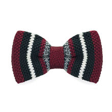 LF-336 Fashion New Arrival Knitted Crochet Men`s Bowties Adjustable Dark Red Novelty For Men Party Bussiness Free Shopping