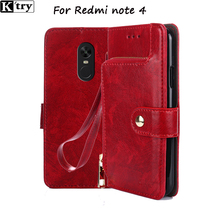 For Xiaomi Redmi Note 4 Case Flip PU Leather Case For Xiaomi Redmi Note 4 Pro 5.5'' Book Style Leather Stand Cover(China)