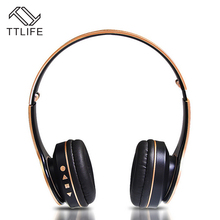 Buy TTLIFE Bluetooth Headphones Wireless Stereo Earphone Headphone Mic Headsets Micro-SD Card Slot FM Radio Phone PC for $10.84 in AliExpress store