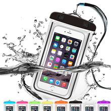 Universal Waterproof Case Lanyard Best Water Proof Dustproof, Snowproof Pouch Bag for iPhone 7 Samsung Galaxy S8 S7 S6 S5 Plus