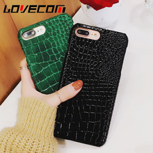 Phone Case For iPhone 7 7 Plus Luxury Crocodile Pattern Slim Leather Hard Cover For Apple iPhone 6 6S Plus Back Cover Capa Coque(China)