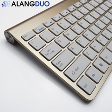 ALANGDUO Simple Pro 2.4Ghz Mini USB Wireless Keyboard for Desktop Laptop Computer Tablet Home Office Video Gaming Game