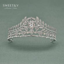 CLEARANCE SALE Crystal Queen Crown Rhinestone Bridal Tiara Headpieces Wedding Pageant Party Women Hair Jewelry Accessories(China)