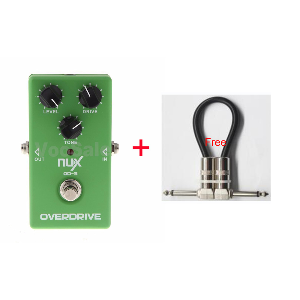 NUX OD-3 Overdre Guitar Effect Pedal Warm Tube natural Overdrive Sound with True Bypass + Free Cable <br>