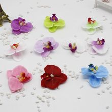 5pcs / lot Silk Phalaenopsis Artificial Flower Car Wedding Dress Up La Maison Hotel Orchs Marriage Flores Flower Cymbidium Flowe