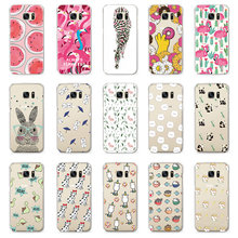 Cute Turtle Flamingo Zebra Dog Pattern Case For Samsung Galaxy S3 S8 S4 S5 Mini S6 S7 Edge Note 3 4 5 G530 Case