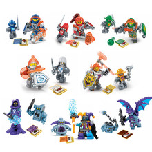 2017 8Pcs/lot Nexus Knights Toys Building Blocks Figures Clay,Jestro,Macy,Axl,Lance Toys Bricks For Children Gifts New Arrival