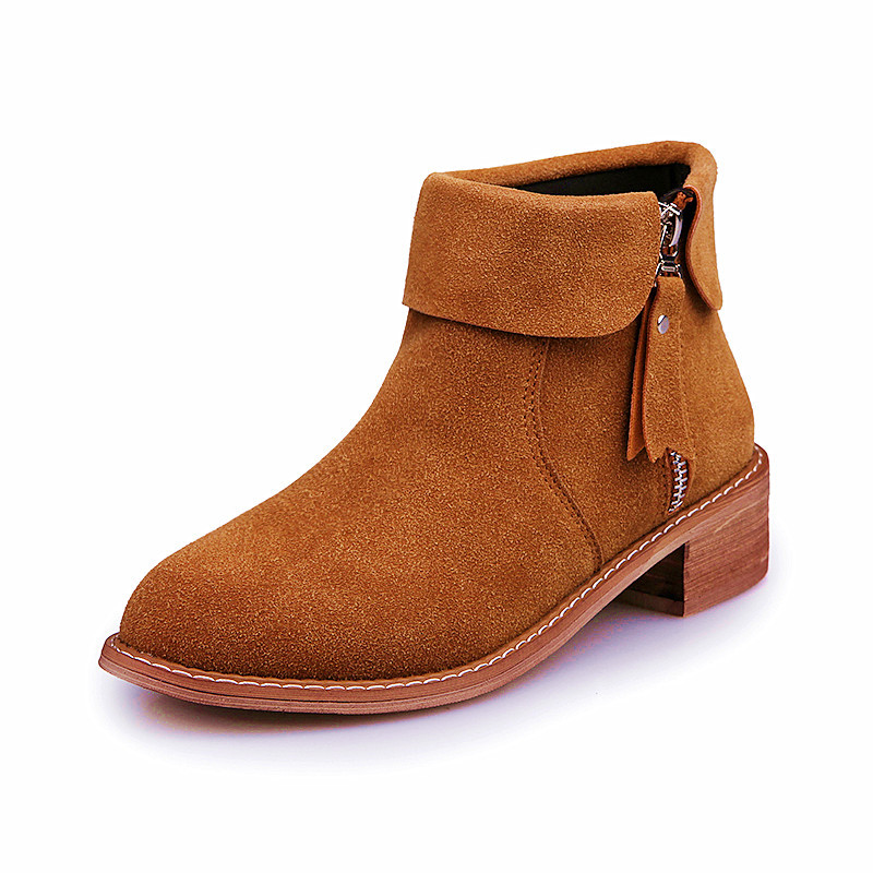 The new solid color casual fashion matte face Martin boots low side with zipper Martin low boots<br><br>Aliexpress