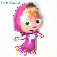 1pcs largest 97*60cm shaped Masha Balloons Decoration Foil Balloon Classic Inflatable Toys Martha Ballons For Children(China)