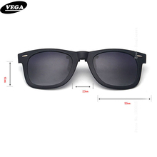 VEGA Polarized Clip On Sunglasses Over Prescription Glasses With Box Fit Over Glasses Sunglasses Flip Up Clips 5840(China)