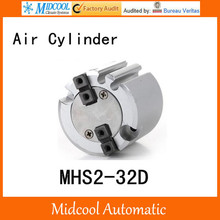 MHS2-32D double acting pneumatic cylinder gripper pivot gas claws parallel air 2-fingers SMC type cylinder