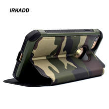 IRKADD Army Green Camouflage Holster for iPhone5 5s SE Anti-Knock Back Cover for iPhone SE Flip Case Phone Cases(China)