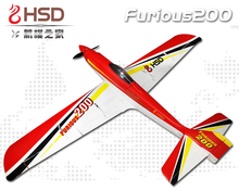 HSD Red Dragonfly Furious 200 4S ESC RC PNP/ARF Propeller Plane W/ Motor Servos(China)