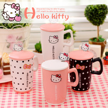 Best Price Creative Kawaii Cartoon Mugs Novelty Hello Kitty Gift Mug Ceramic Cute Summer Cool Drink Milk Coffee Juice Water Cups