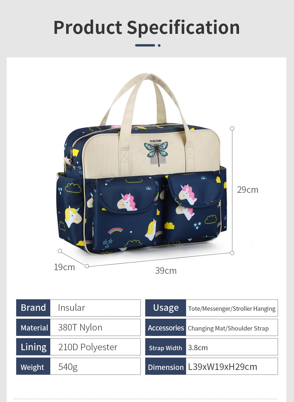 Waterproof Multifunctional Diaper Bag  11