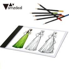 AMZDEAL 1pc Super Ultra Thin A4-F-T Practical LED Drawing Copy Board Tablet Table Pad European Standard Digital Tablet