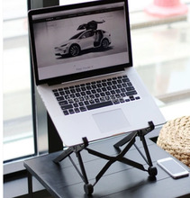 Foldable Laptop Table Laptop Desk Ergonomic Adjustable Height with Keyboard Tray Aluminum Alloy Notebook Holder