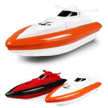 HY800 Mini High Speed 4CH RC Boat Remote Control Speed Powerful Strong Double Motor Streamline Hull Design Airship(China)