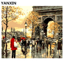 YANXIN DIY Frame Painting By Numbers Oil Paint Wall Art Pictures Decor For Home Decoration E576(China)