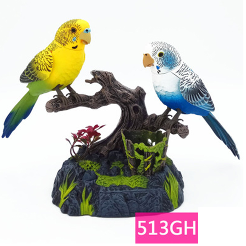 Electronic Talking Bird Intelligent voice Control Gift Interactive Pet Toys Sing