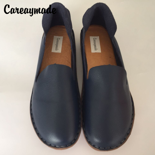 Careaymade-spring,Genuine leather shoes,pure handmade flat shoes,women the retro art mori girl shoes,Women fashion Cotton shoes.<br>