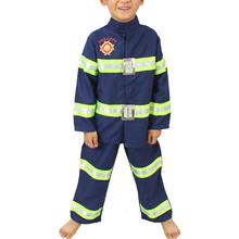 Cosplay Costume suit Fireman Full Sets Costumes For Kids boys girls Firefighter Clothes halloween costumes for kids party(China)