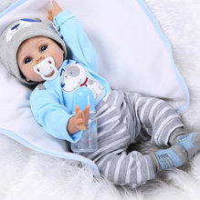 "22""silicone reborn baby dolls,Lifelike Baby Doll Toddler Toys for Children bebe alive bonecas reborn"