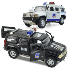 Alloy car police car toy police car hummer H3 cop car models kid toys for Children's Day new year gift ornaments