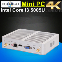 Mini PC Computador Windows 10 DDR3L Ram Msata SSD Haswell Nuc Intel Core i3 5005U i3 4005U 4K HTPC Kodi Linux 300M Wifi HDMI+VGA