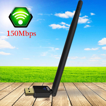 Wireless WiFi Network Adapter With 6dBi Antenna 150M USB Network Card For PC Laptop Wifi Receiver External Wi-Fi Dongle Antenna
